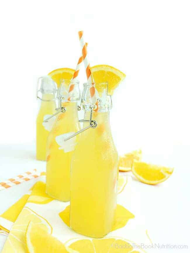 Naturally sweet orange soda fermented with whey to add probiotics for a healthy gut! | Back To The Book Nutrition