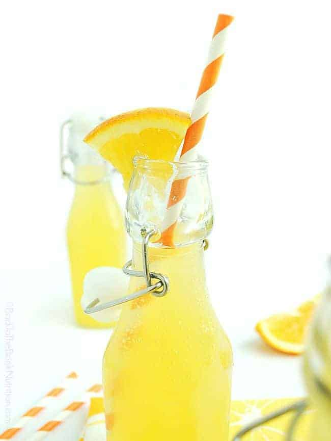 This easy homemade orange soda is super refreshing and is naturally fermented to add a healthy probiotic punch! | Back To The Book Nutrition