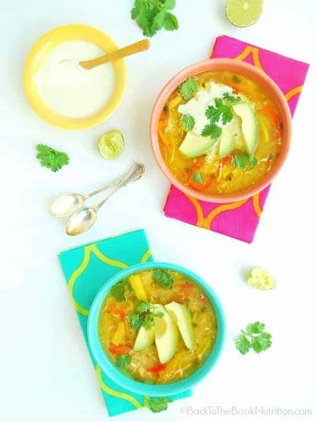 Simple, healthy Mexican Chciken Soup (Pollo de Caldo) - gluten free, grain free, GAPS | Back To The Book Nutrition