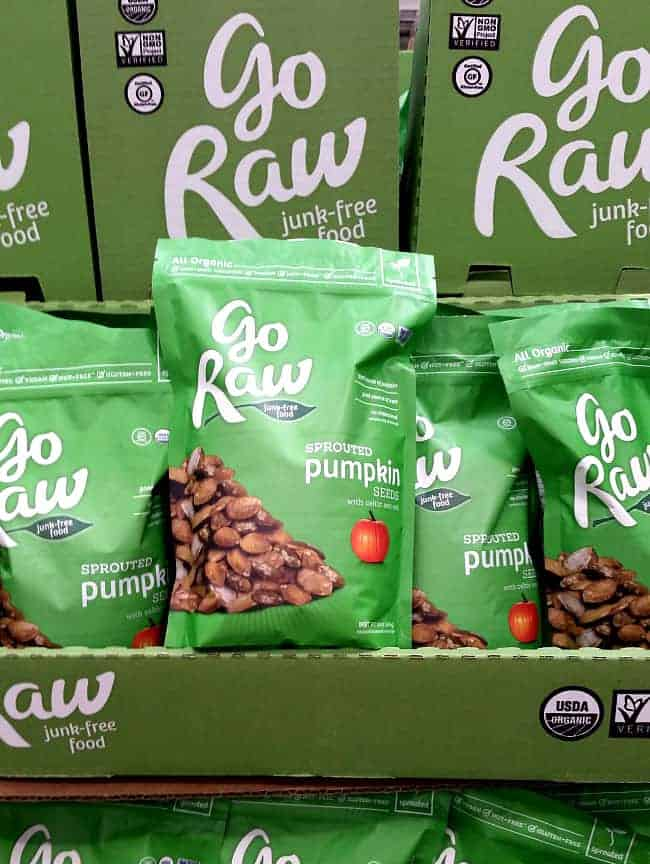 Go Raw Sprouted Pumpkin Seeds from Costco | Back To The Book Nutrition