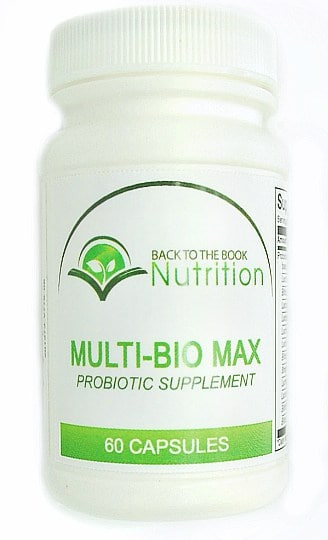 Multi-Bio Max Pobiotic - a high-potency, multi-strain probiotic to support gut health, brain health, and more!