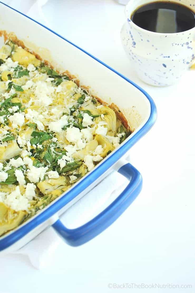 Whip up this simple egg casserole mix in the blender, then add whatever toppings you like | Back To The Book Nutrition